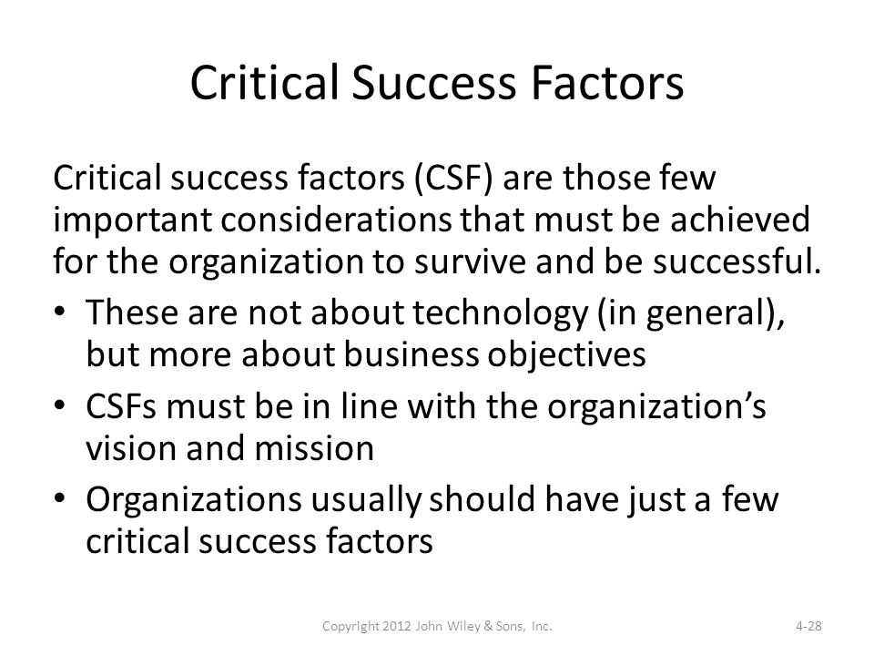 four factors of organizational success essay Destructive role of employee silence in organizational success malikeh beheshtifar management department, rafsanjan branch, islamic azad university, iran are critical factors to the success of organizations however, many employees choose not to.