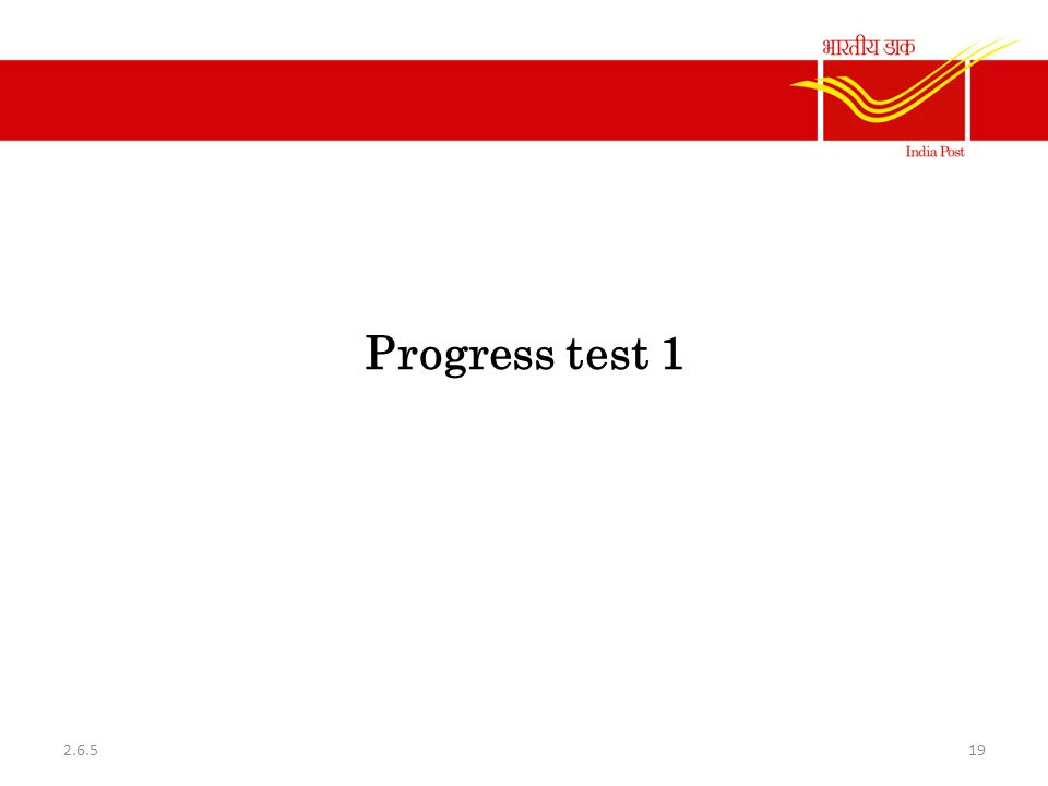 Progress test 1 2.6.5