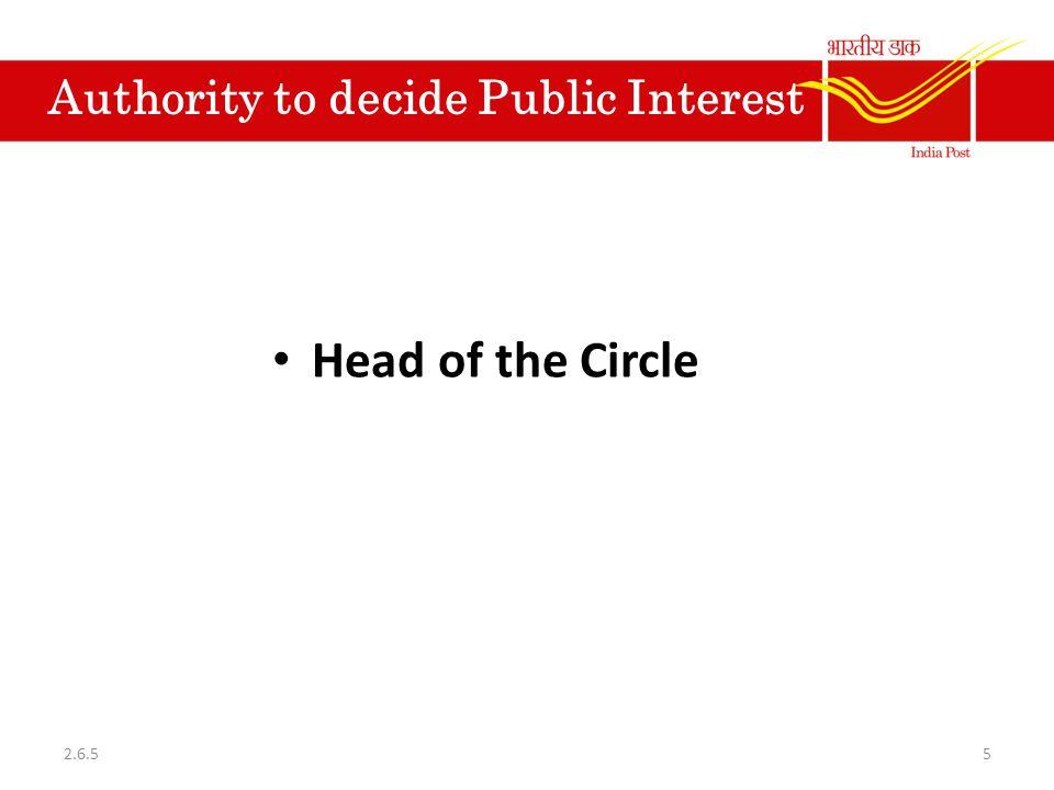 Authority to decide Public Interest