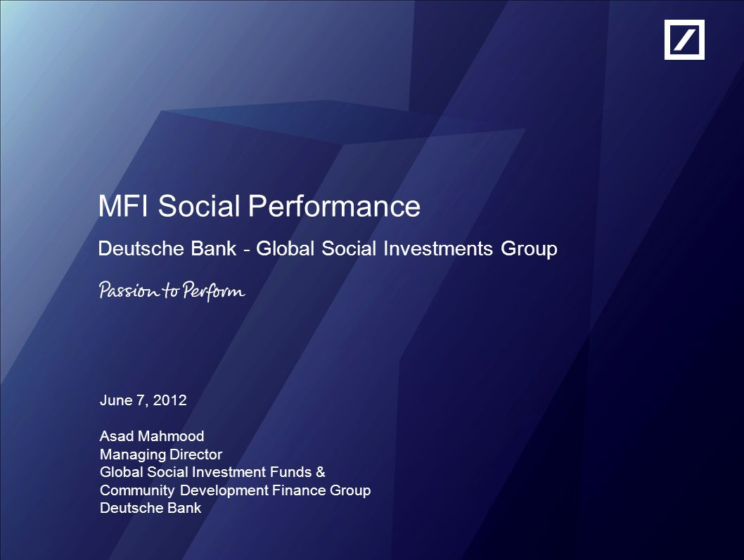 MFI Social Performance