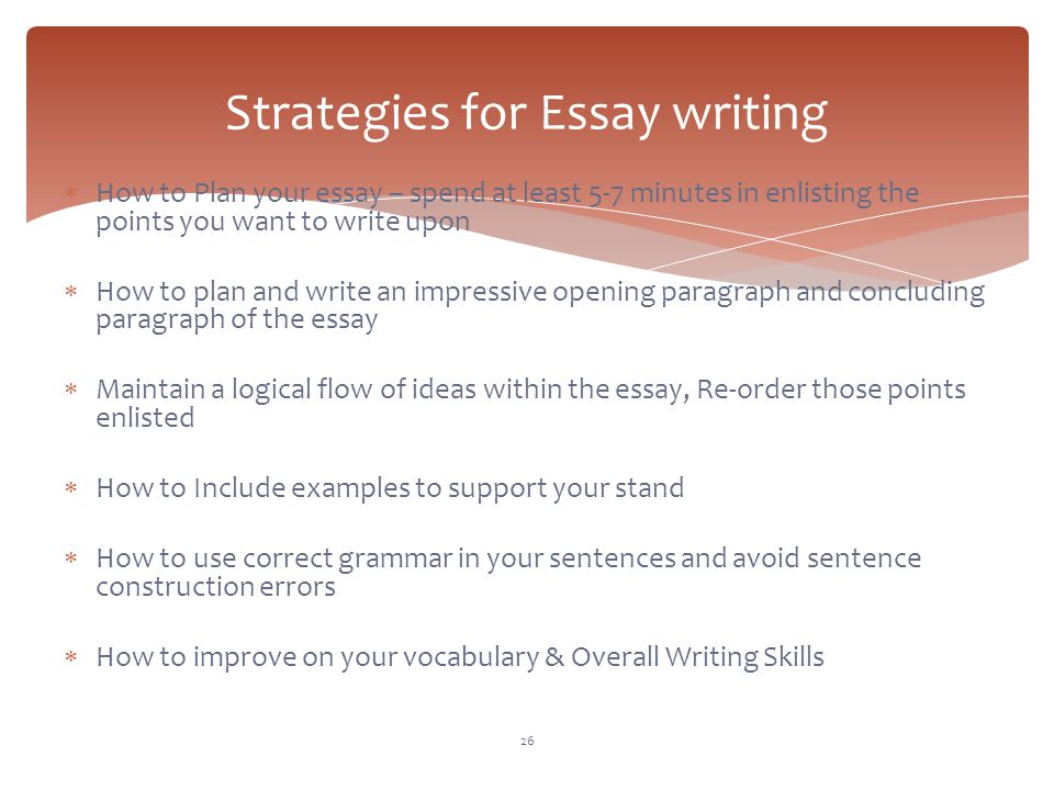 strategies for essay writing - Strategies For Essay Writing