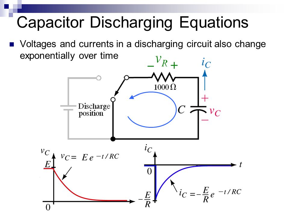 Capacitor Discharging Equations
