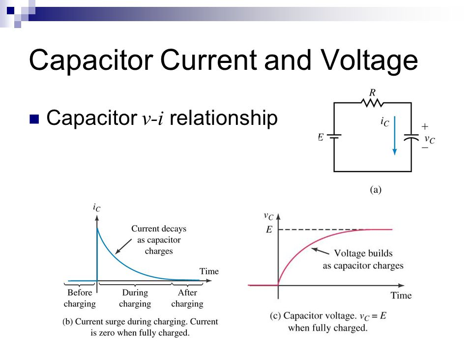 Capacitor Current and Voltage