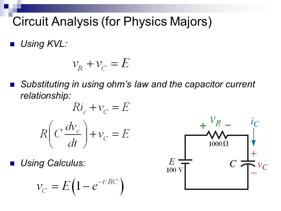 Circuit Analysis (for Physics Majors)