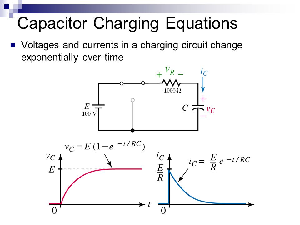 relationship between charging time capacitance and charge