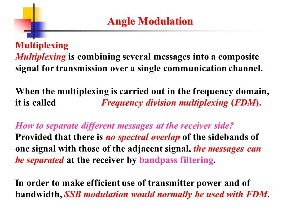 Angle Modulation Multiplexing