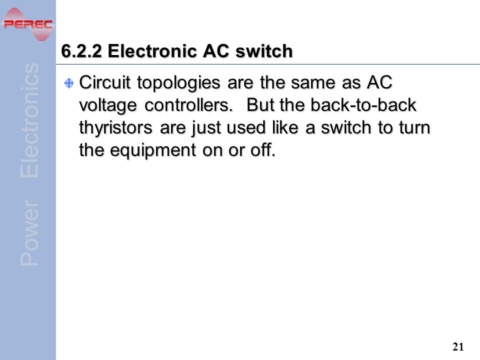 6.2.2 Electronic AC switch