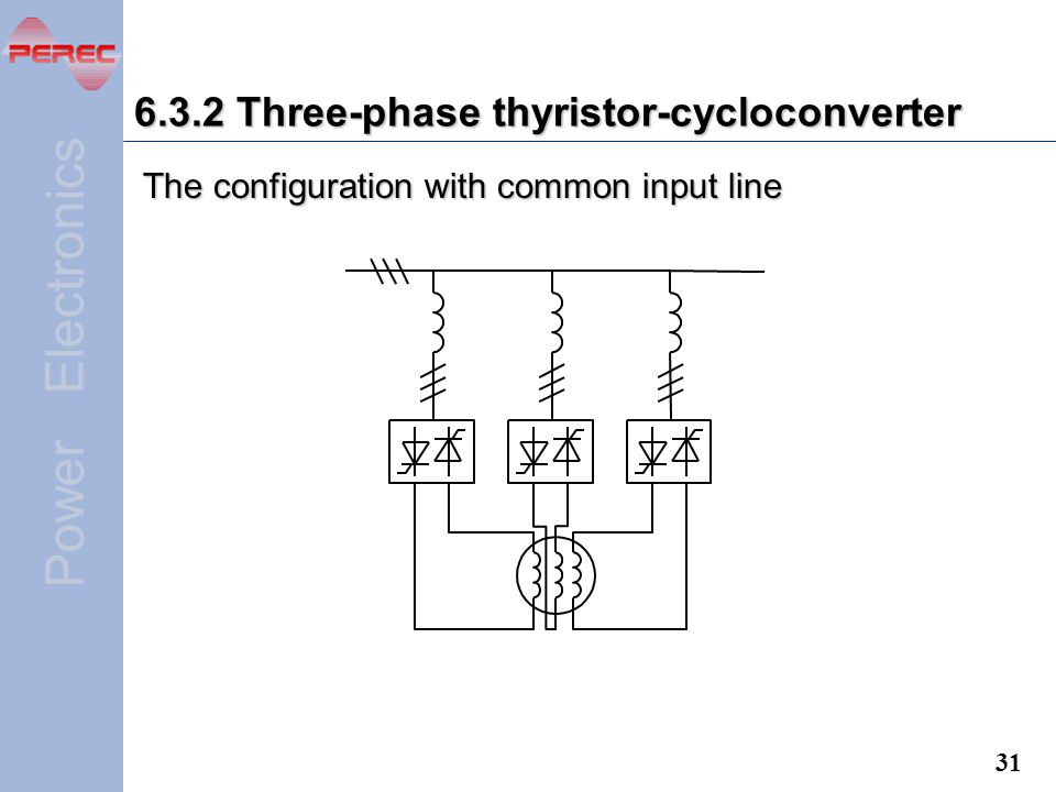 6.3.2 Three-phase thyristor-cycloconverter