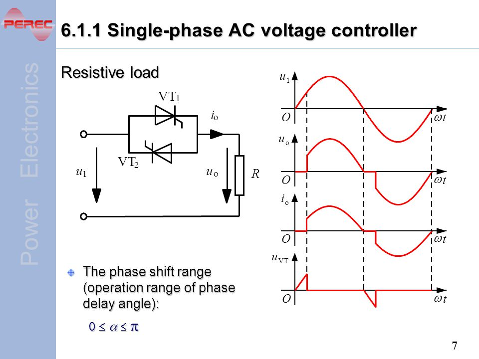 6.1.1 Single-phase AC voltage controller