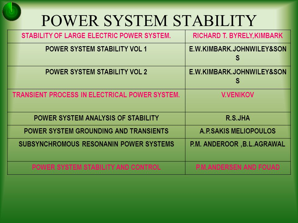 Stability power book system