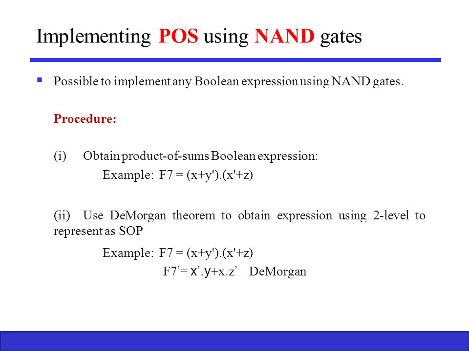Implementing POS using NAND gates