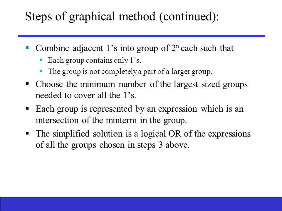 Steps of graphical method (continued):