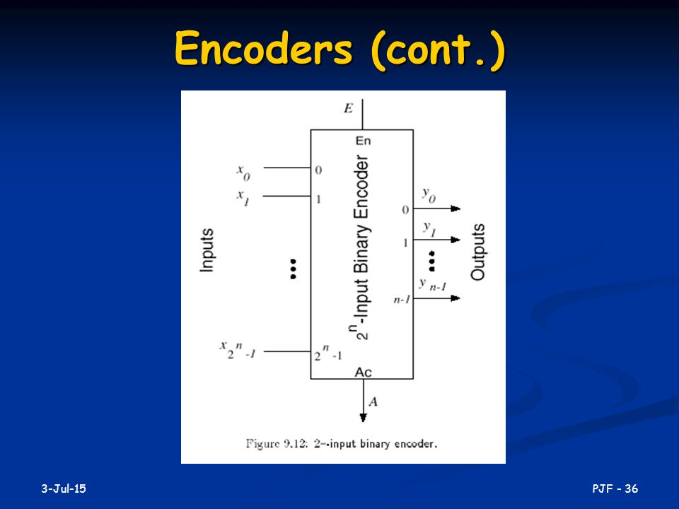 Encoders (cont.) 17-Apr-17