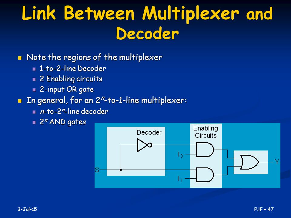 Link Between Multiplexer and Decoder