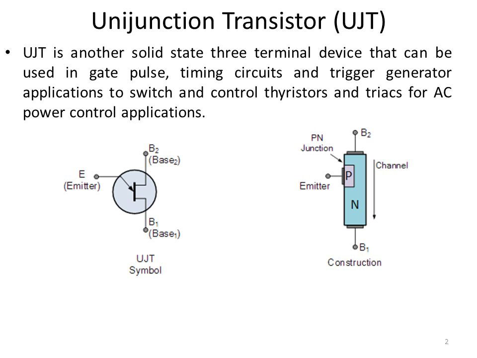 Power Electronics Lecture 7 Unijunction Transistor Ppt Video