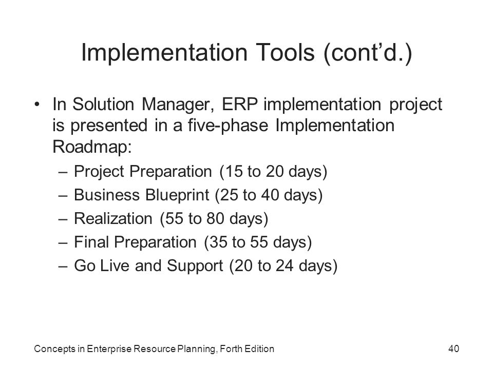 Concepts in enterprise resource planning forth edition ppt download 40 implementation malvernweather Image collections