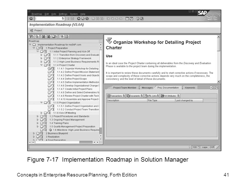 Figure 7-17 Implementation Roadmap in Solution Manager