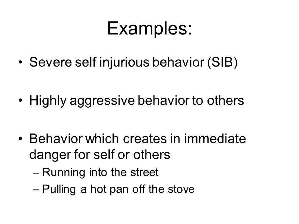 decreasing self injurious behavior essay When self-injurious behavior increases calm feelings and leads to an improvement in mood, these rewards increase the likelihood of the person engaging in the behavior again (positive reinforcement) there may also be a decrease in distress or negative feelings associated with the self-harm.