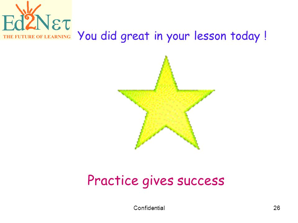 Practice gives success