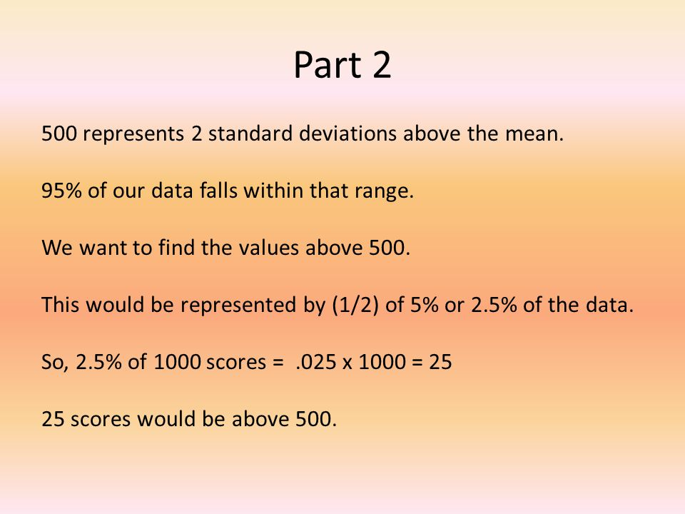 how to find 2 standard deviations below the mean