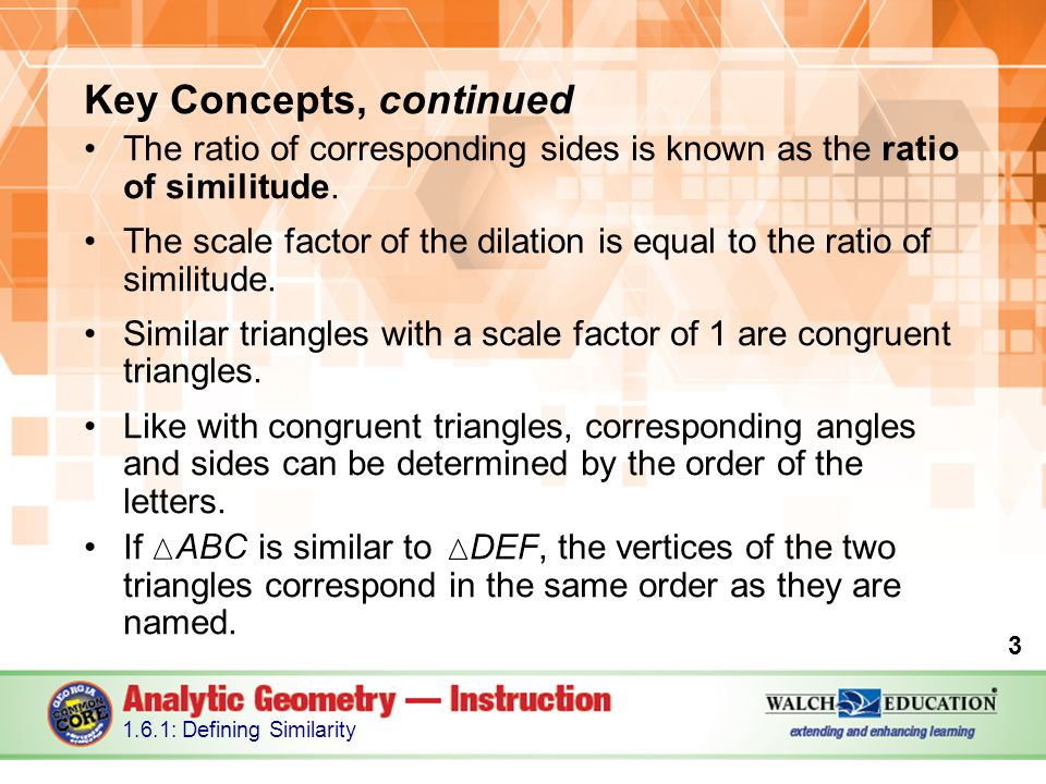 Key Concepts, continued