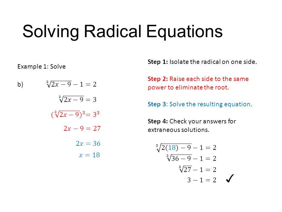 solving radical equations day 2 answer key tessshebaylo. Black Bedroom Furniture Sets. Home Design Ideas