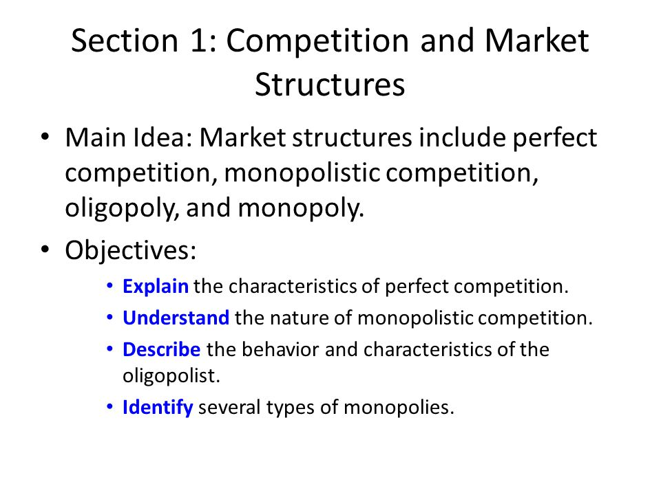 the main characteristics of an oligopoly Learn about monopolistic markets and the main characteristics that distinguish from other markets and whether or not they are inefficient  what are the characteristics of a monopolistic market.