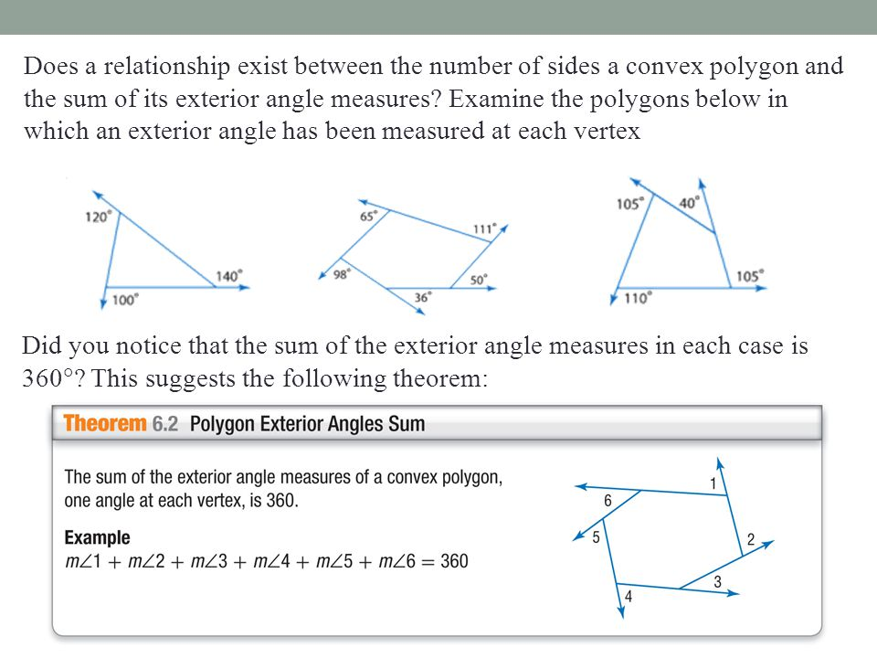 Section 6 1 angles of polygons ppt download Exterior angle of a 12 sided polygon