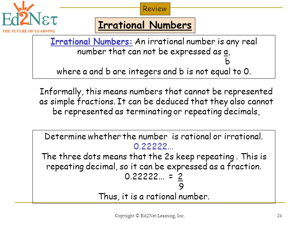 how to tell whether a number is rational or irrational