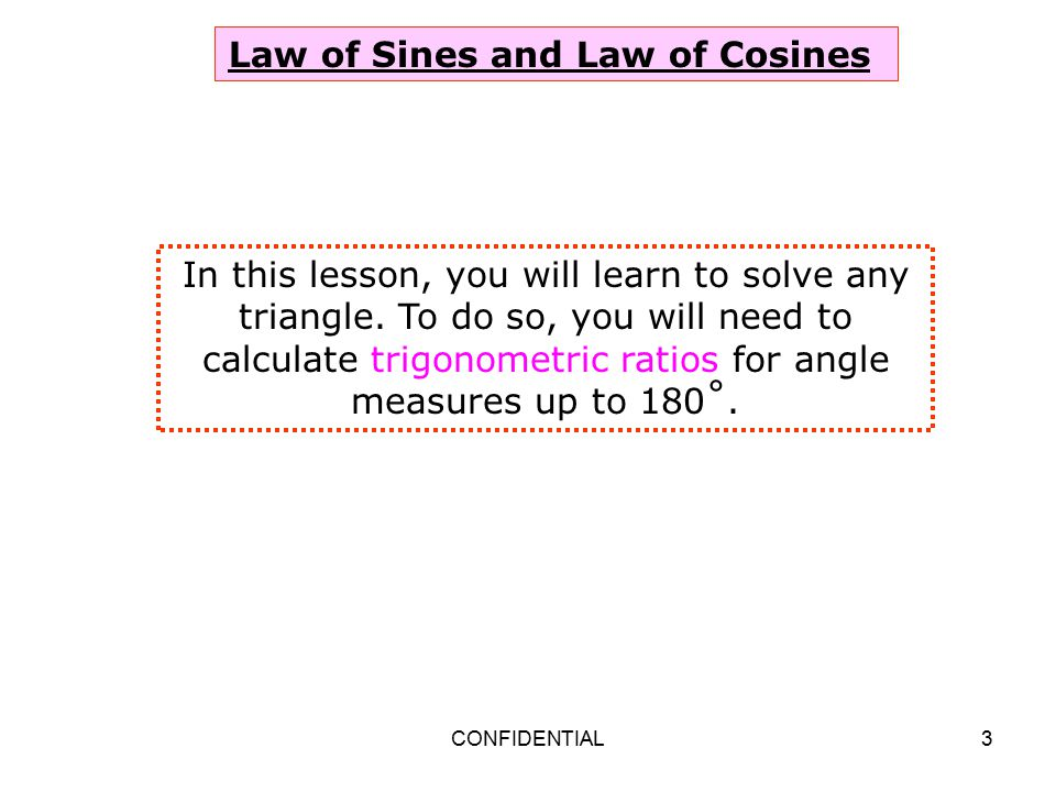 law of sines and cosines pdf