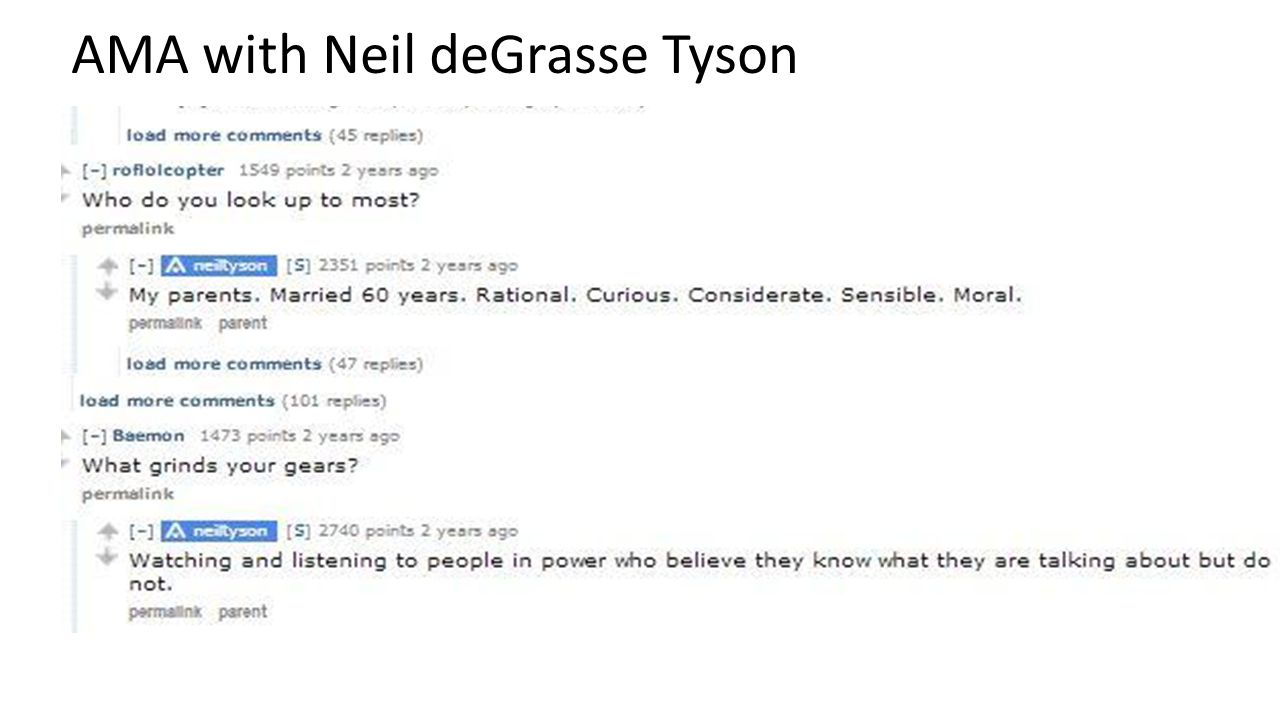 AMA with Neil deGrasse Tyson