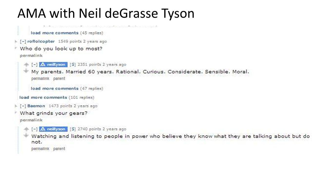 AMA with Neil deGrasse Tyson