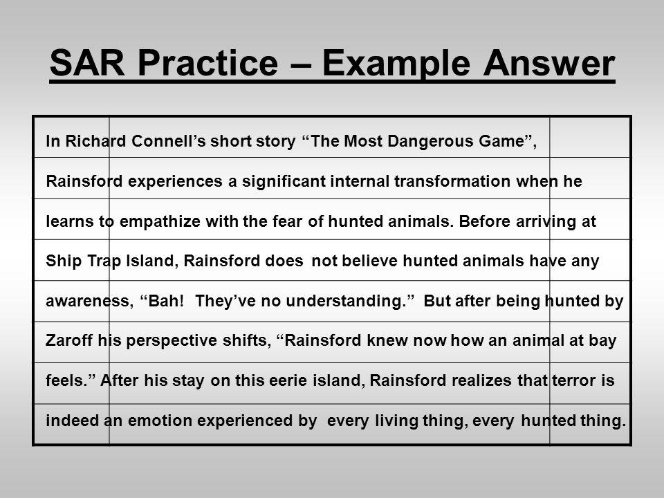 introduce zaroff in essay