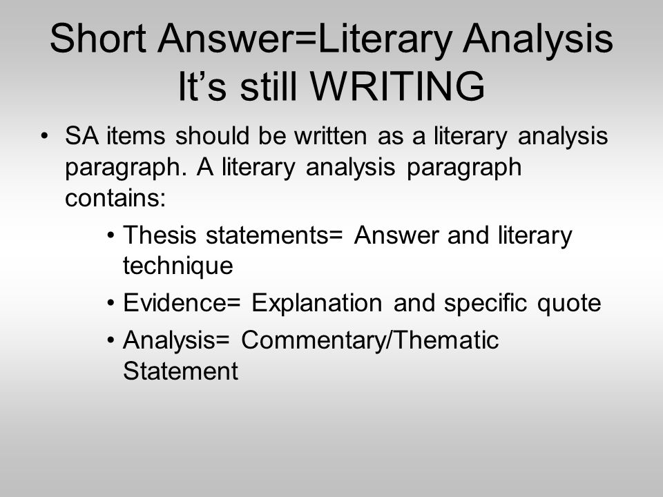 How to Write a Literary Analysis.
