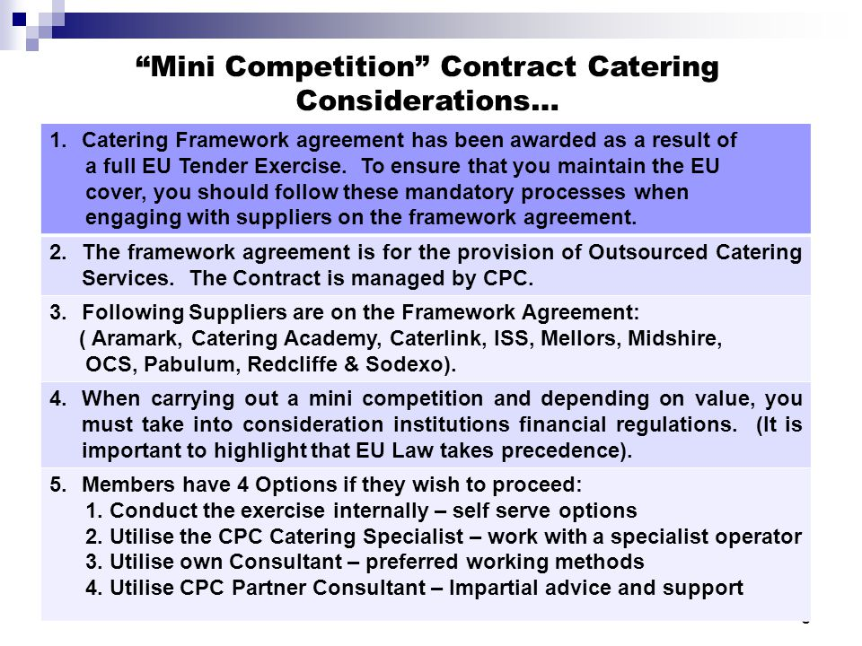Outsourced Catering  Educational Institutions  Ppt Video Online