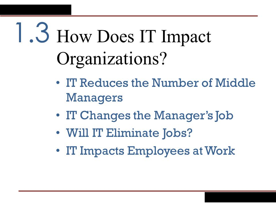 How Does IT Impact Organizations