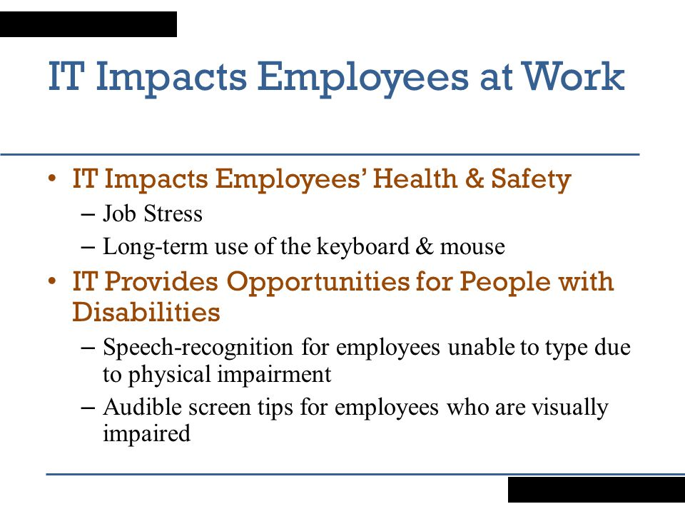 IT Impacts Employees at Work