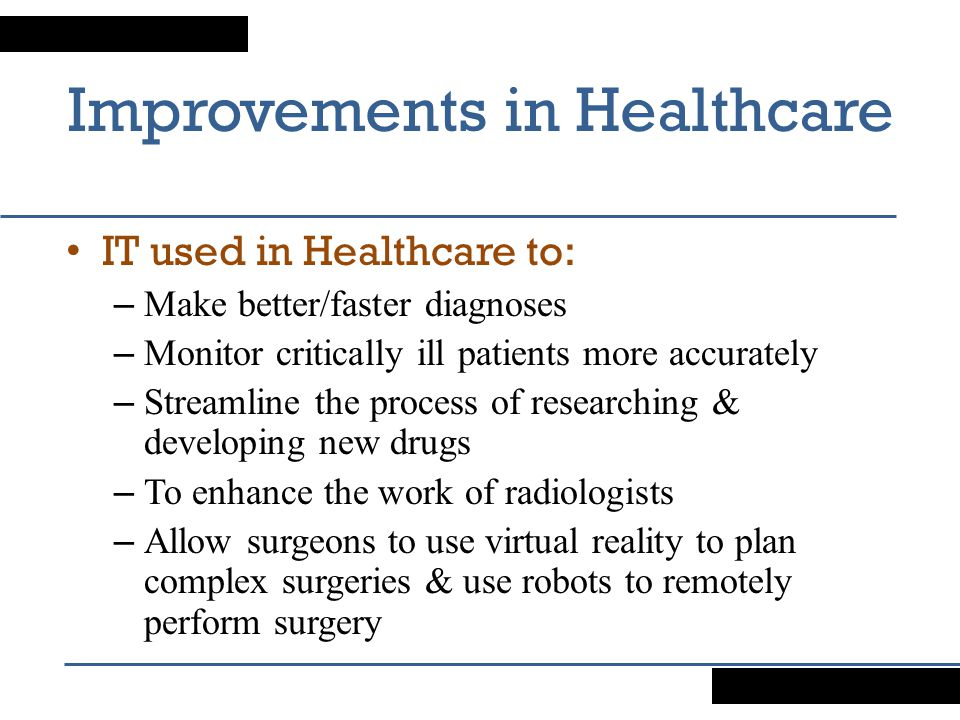 Improvements in Healthcare