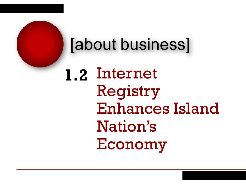 Internet Registry Enhances Island Nation's Economy