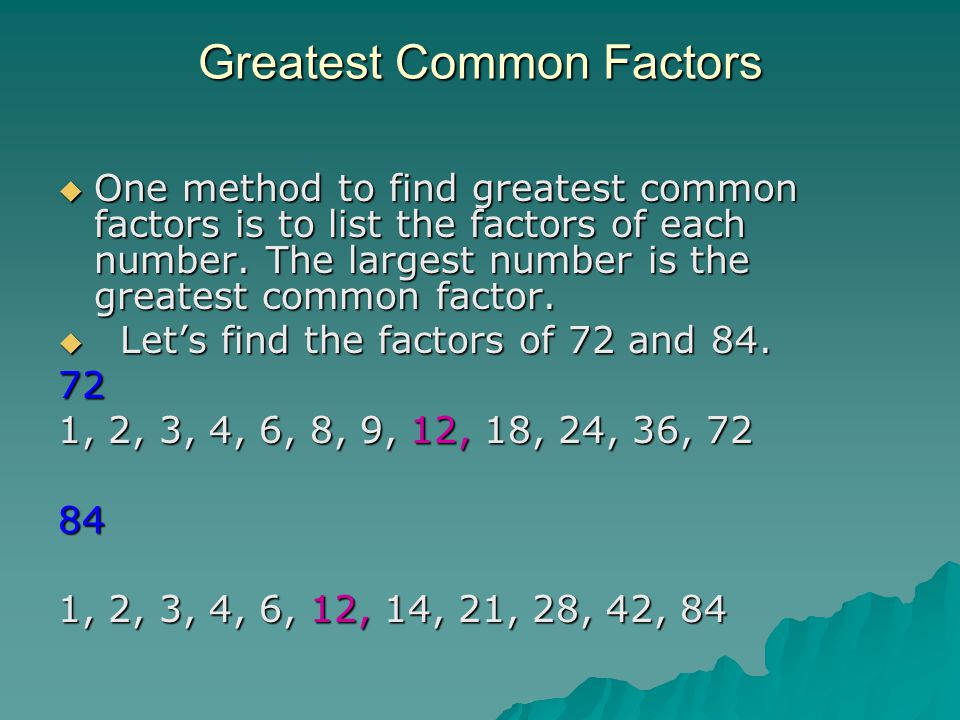 highest common factor of 28 and 18 dating