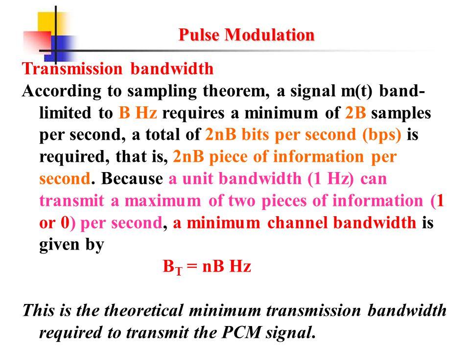 Pulse Modulation Objectives - ppt download