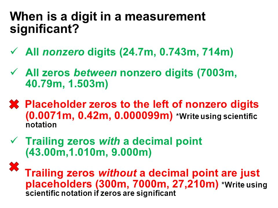 When is a digit in a measurement significant