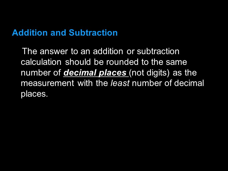 3.1 Addition and Subtraction.