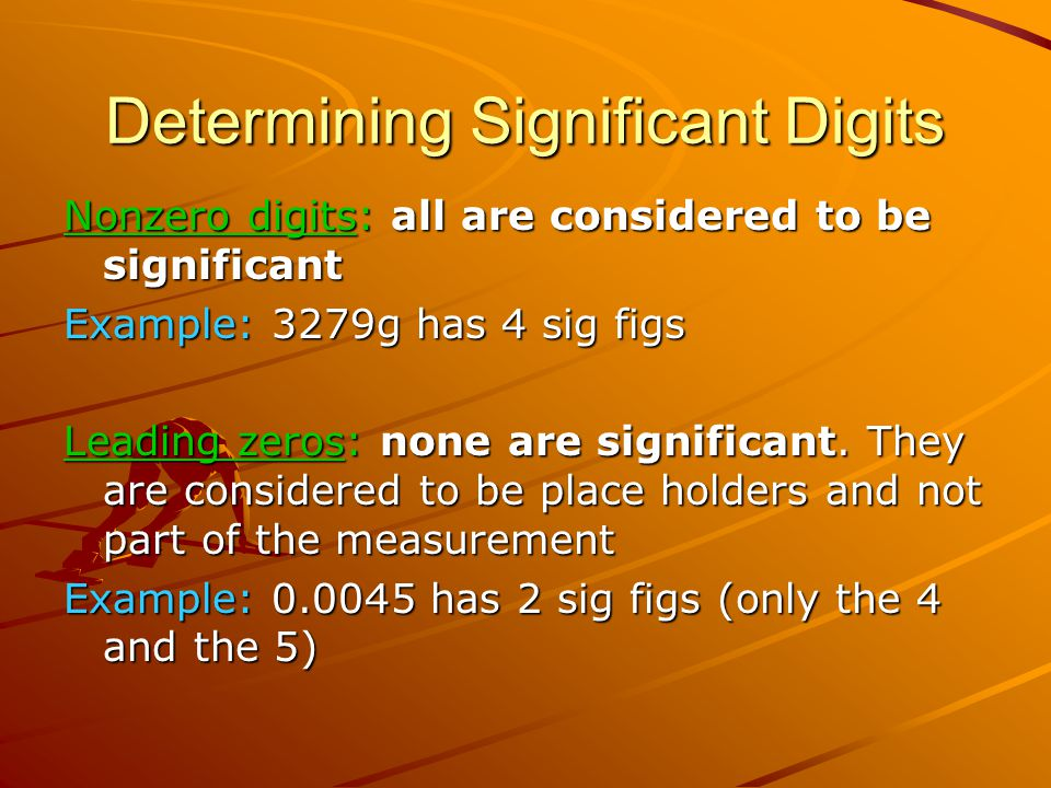 Determining Significant Digits