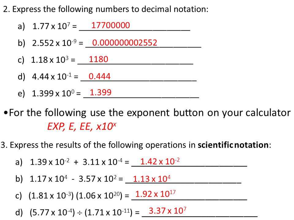 Scientific Notation Scientific Notation Is Used When Numbers Are