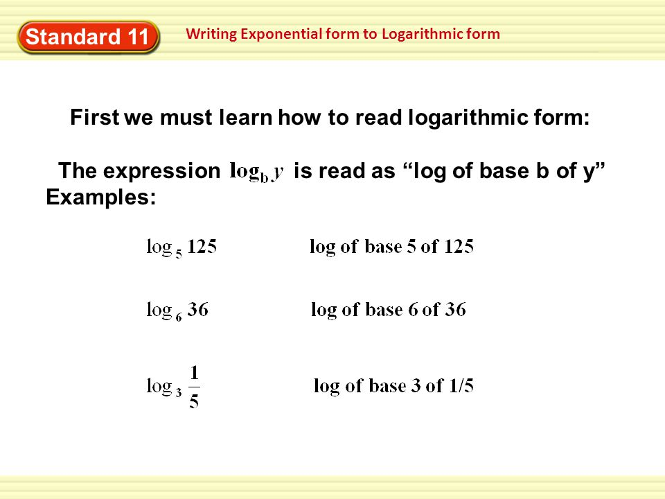 how to change log to exponential