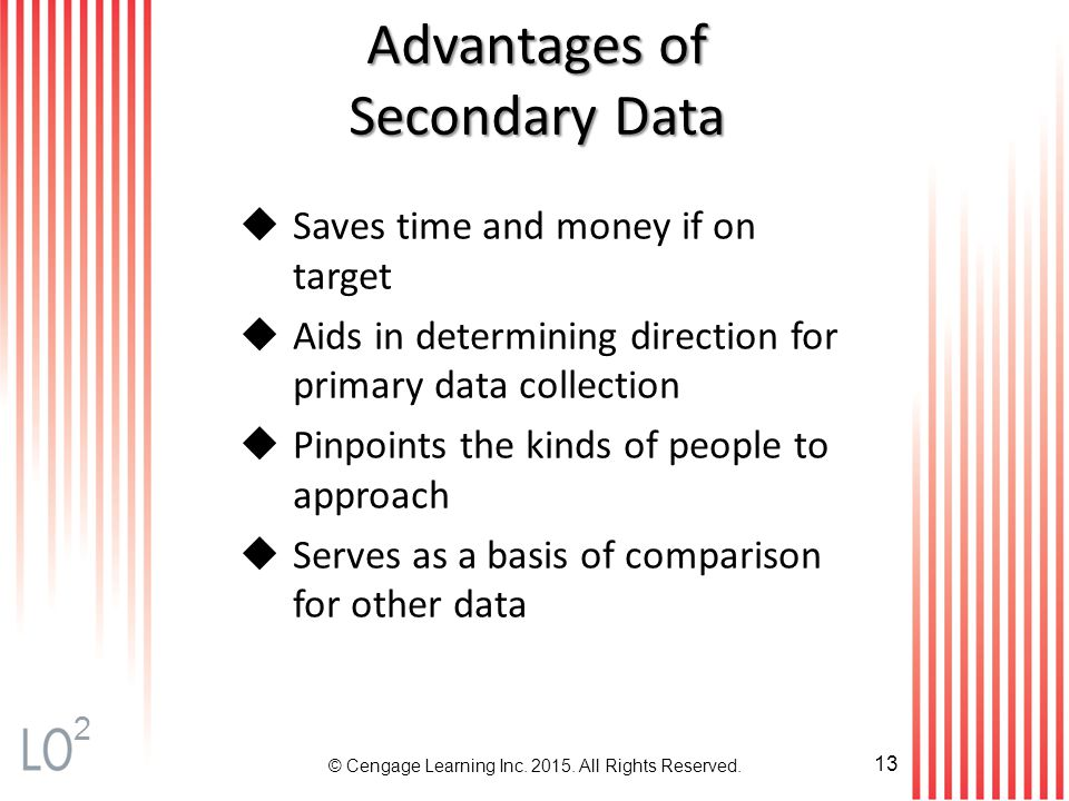 What are the Advantages of secondary market research?