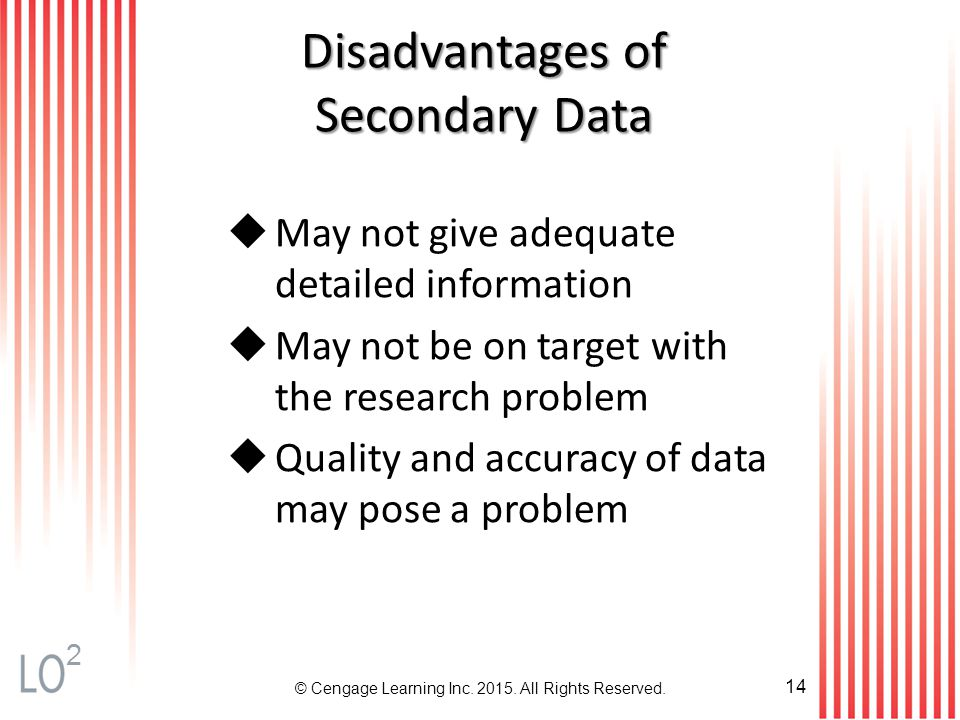 advantage and disadvantage of primary and secondary data Primary and secondary data depends on the relationship between the person or  advantages and disadvantages of secondary data analysis interviews and.