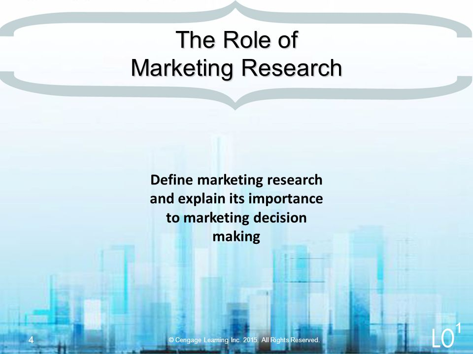 Purpose of marketing research