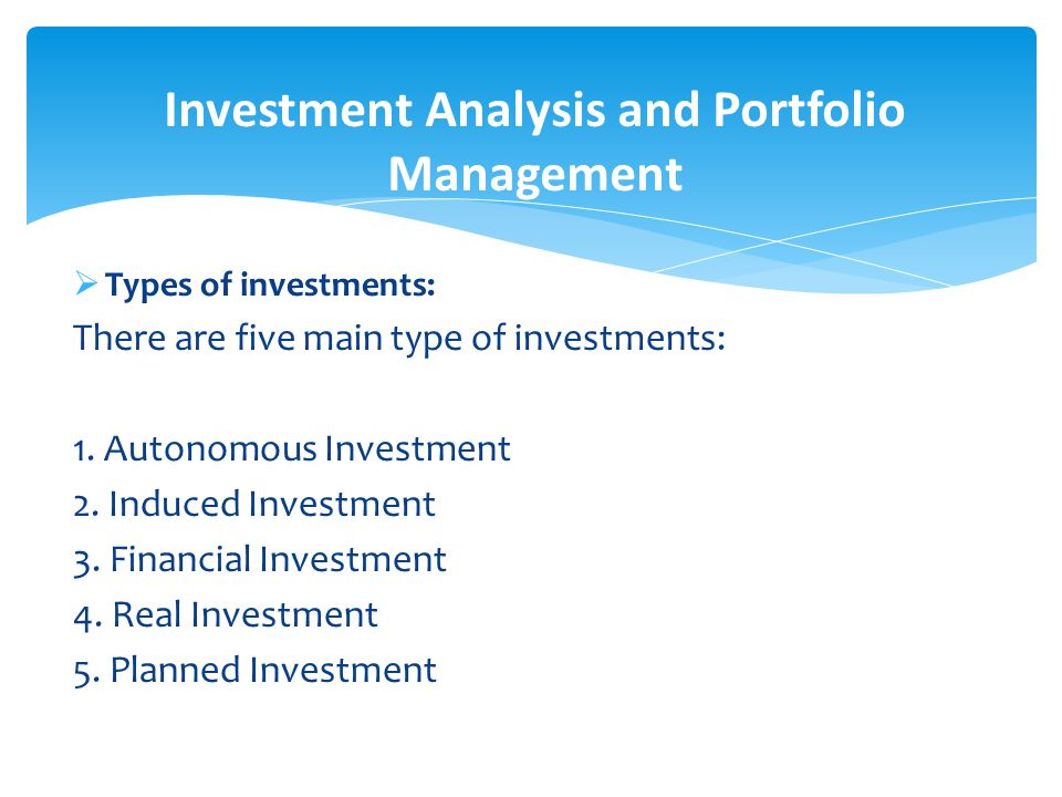 F.B : Lec# 1 Chapter # 1 Introduction To Investment Analysis And